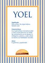 Origen y significado de Yoel