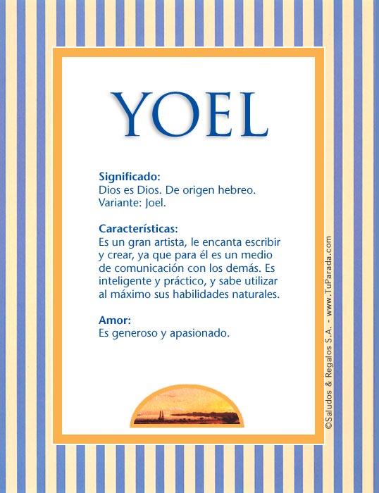 Yoel, imagen de Yoel