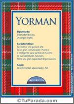 Nombre Yorman