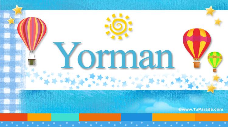 Yorman, imagen de Yorman