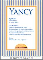Origen y significado de Yancy