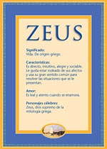 Origen y significado de Zeus