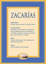 Nombre Zacarías