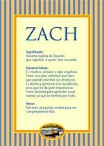 Origen y significado de Zach