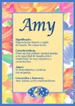Origen y significado de Amy