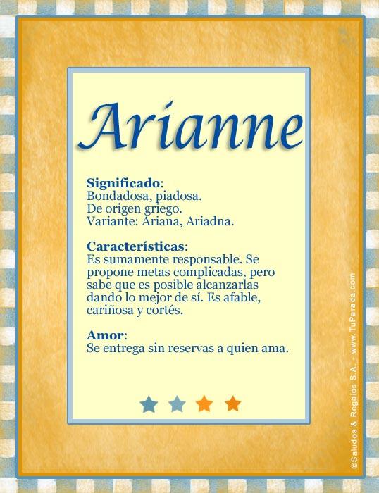 Arianne, imagen de Arianne
