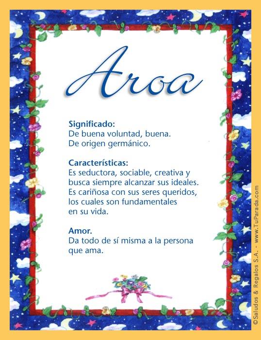 Aroa, imagen de Aroa