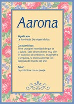 Nombre Aarona