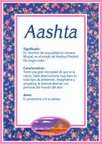 Aashta