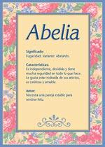 Nombre Abelia