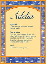 Nombre Adelia