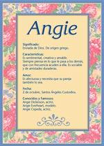 Origen y significado de Angie