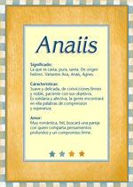 Origen y significado de Anaiis