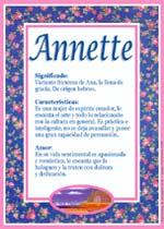Nombre Annette
