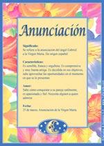 Origen y significado de Anunciación