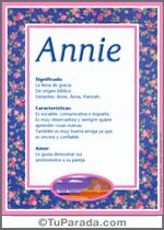 Nombre Annie