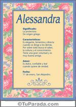 Origen y significado de Alessandra