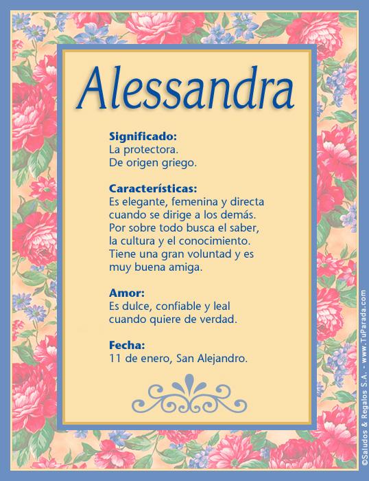 Alessandra, imagen de Alessandra