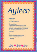 Origen y significado de Ayleen