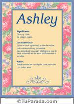 Origen y significado de Ashley