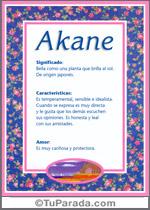 Nombre Akane