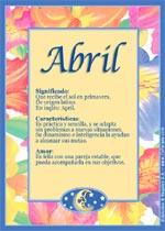 Nombre Abril