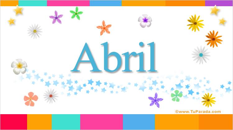 Abril, imagen de Abril