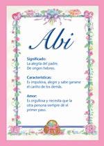Origen y significado de Abi