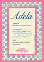 Nombre Adela