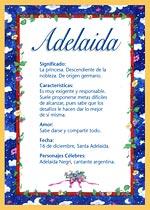 Nombre Adelaida