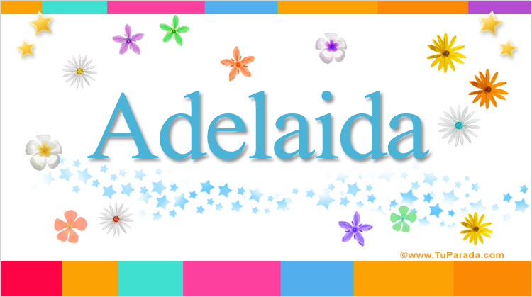Adelaida, imagen de Adelaida