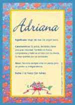 Origen y significado de Adriana