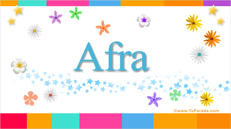 Afra, imagen de Afra