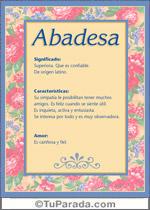 Nombre Abadesa