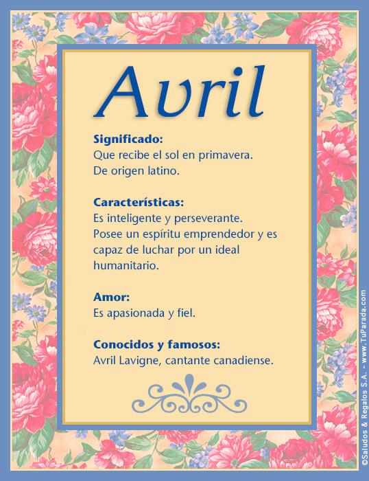 Avril, imagen de Avril