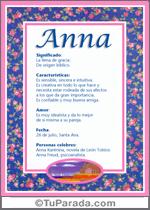 Nombre Anna