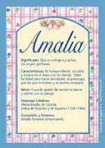 Origen y significado de Amalia