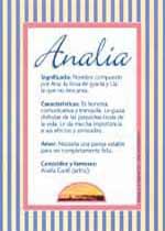 Nombre Analía