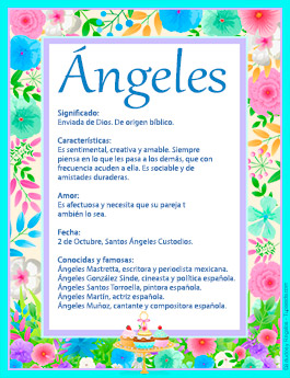 Origen y significado de Angeles