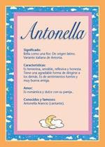 Nombre Antonella