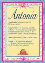 Origen y significado de Antonia