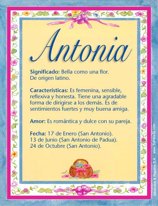 Antonia, imagen de Antonia