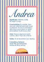 Origen y significado de Andrea