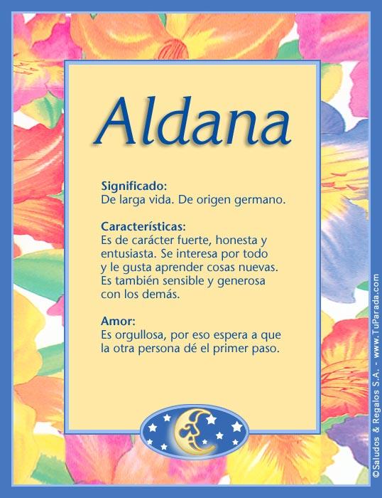 Aldana, imagen de Aldana
