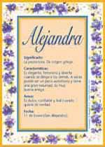 Nombre Alejandra