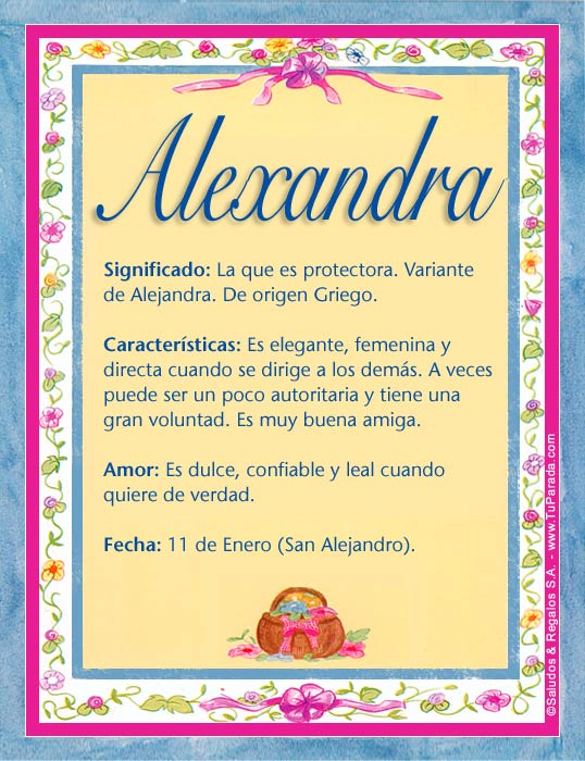 Alexandra, imagen de Alexandra