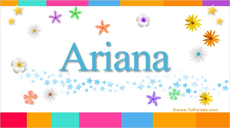 Ariana, imagen de Ariana