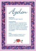 Origen y significado de Ayelen
