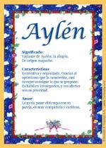 Origen y significado de Aylén