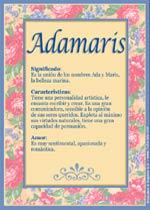 Nombre Adamaris
